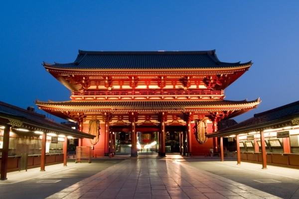 Temple de nuit à Shangaï
