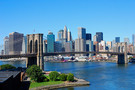 New York - Brooklyn Bridge Et Manhattan aux Etats-Unis