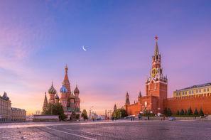 Russie - Moscou, Circuit Les deux Rivales : Moscou et St Pétersbourg 4*