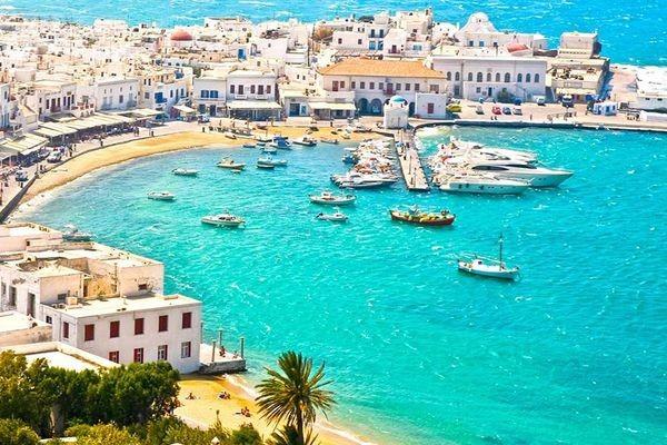 (fictif) - Combiné hôtels Périples dans les Cyclades depuis Santorin - Santorin, Naxos, Amorgos et Paros