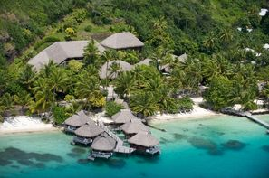 Polynesie Francaise-Papeete, Combiné hôtels Trois îles Intercontinental / Maitai: Tahiti, Mooréa et Bora Bora