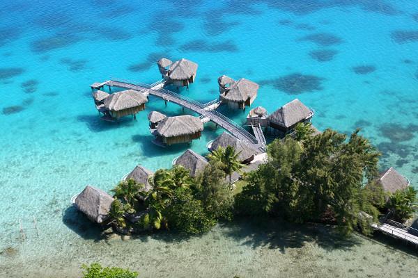 Vue panoramique - Combiné hôtels Trois îles au Pearl et Sofitel : Tahiti, Moorea et Bora Bora