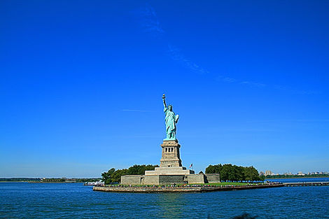New York - Liberty Island aux Etats-Unis