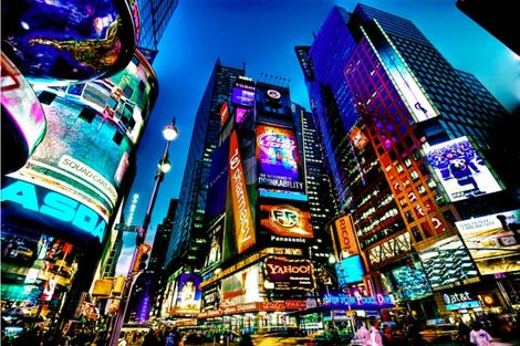 Time Square aux Etats-Unis