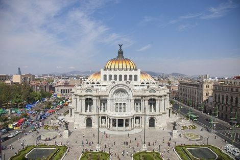 Mexico - Palacio de Bellas Artes au Mexique