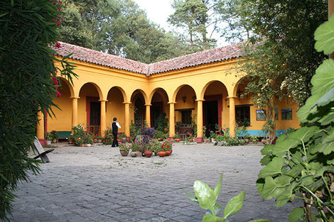 Patio d'une hacienda au Mexique