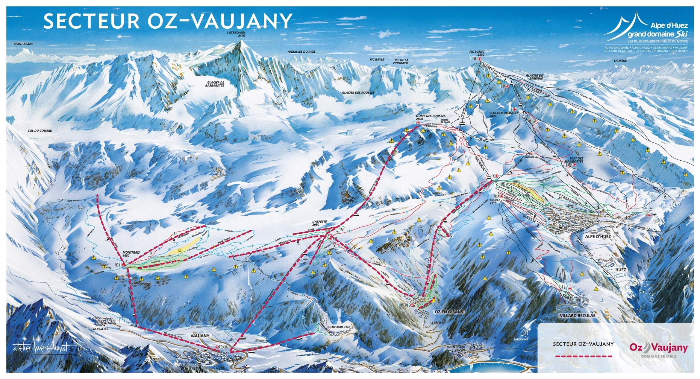location ski oz vaujany
