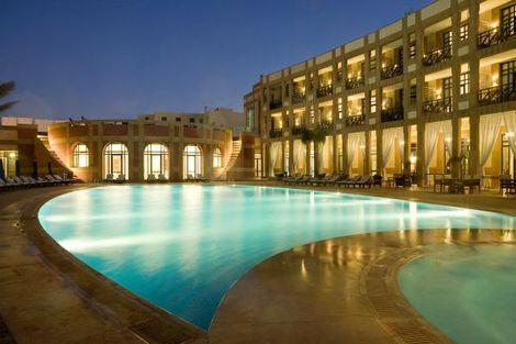 Piscine et façade de nuit - M Gallery (sans transport) Maroc - Essaouira