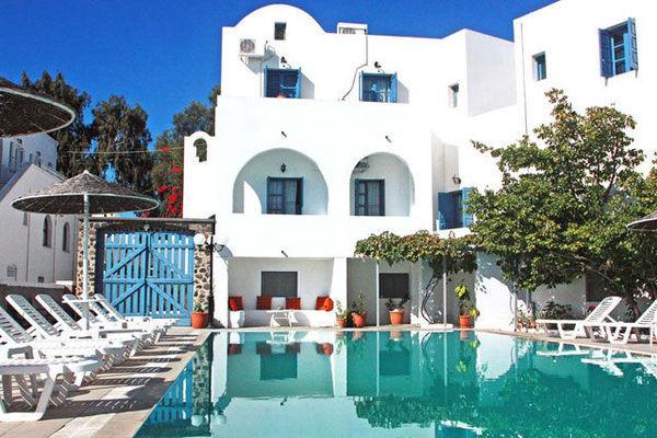 (fictif) - Hôtel Kalma - Arrivée Santorin 3*