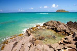 Vacances Deshaies: Résidence hôtelière Caraibes Bonheur ou Royal + location de voiture