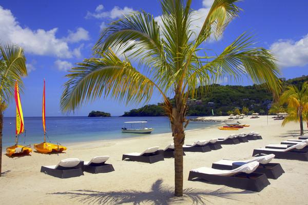 Plage - Hôtel Blu Hôtel St Lucia 3*