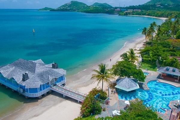 Plage - Hôtel Sandals Halcyon Beach St Lucia 4*