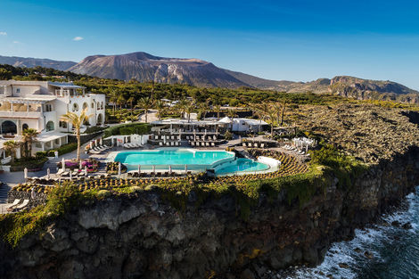 Vue panoramique - Therasia Resort - Isola Vulcano
