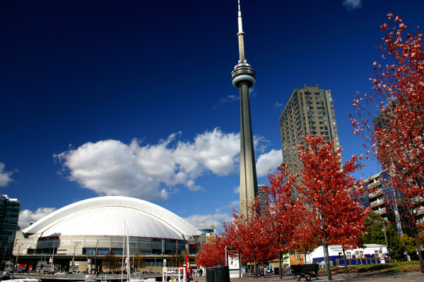 CN Tower and Roger center Toronto