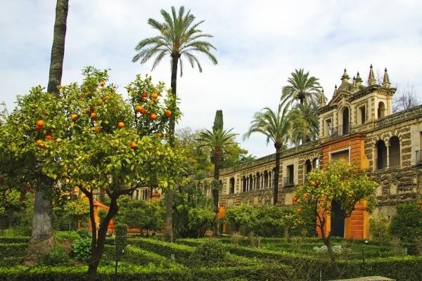 Jardin de l'Alcazar à Séville - De la Castille à l'Andalousie