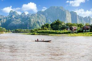 Laos-Vientiane, Circuit Splendeurs du Laos et Extension Cambodge