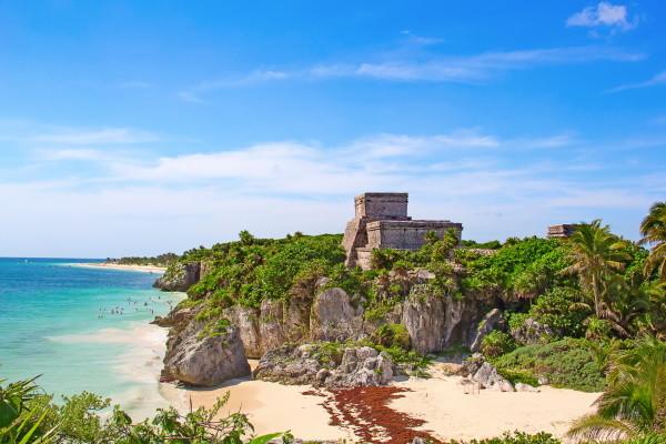 Plage - Circuit Splendeurs du Yucatan & extension Riviera Maya Cancun Mexique