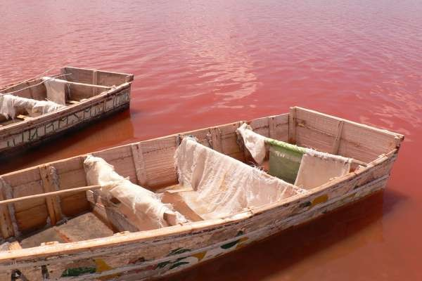 Barques sur le Lac Rose