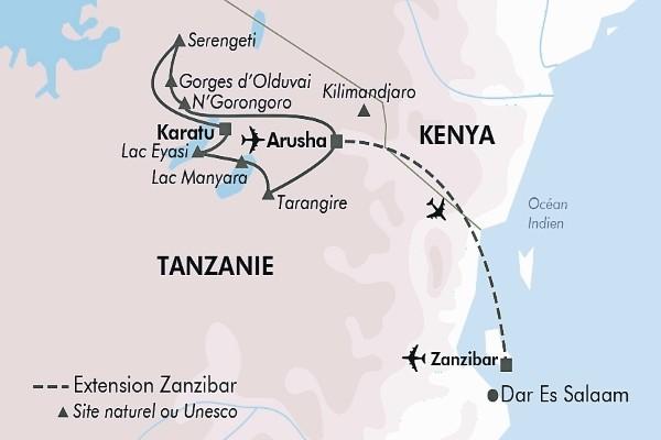(fictif) - Circuit Safari Serengeti Arusha Tanzanie