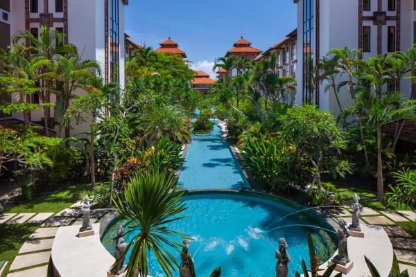 Piscine - Combiné hôtels Balnéaire au Prime Plaza Hotel Sanur + The Ubud Village Hotel 4* Denpasar Bali