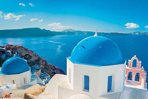 (fictif) - Combiné hôtels Périples depuis la Crète 2 îles en 1 semaine - Crète et Santorin en catégorie standard Heraklion Crète