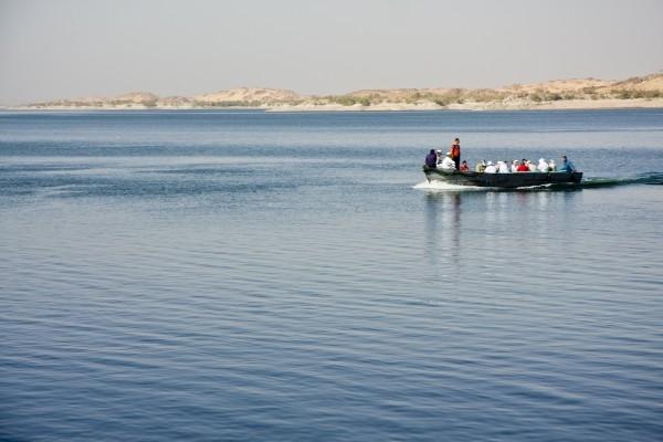 Barque sur le lac Nasser