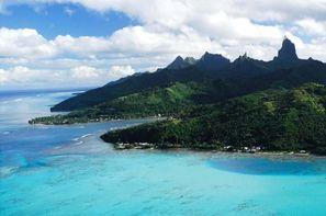 Polynesie Francaise-Papeete, Combiné hôtels 4 îles : Tahiti - Moorea - Huahine - Bora Bora
