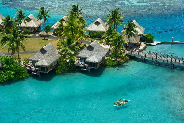 Vue panoramique - Combiné hôtels Trois îles Intercontinental / Maitai: Tahiti, Mooréa et Bora Bora Papeete Polynesie Francaise
