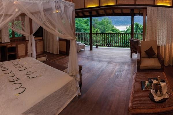 Chambre - Combiné hôtels 2 iles : Mahé et Praslin : L'habitation Cerf Island et Palm Beach 3* Mahe Seychelles