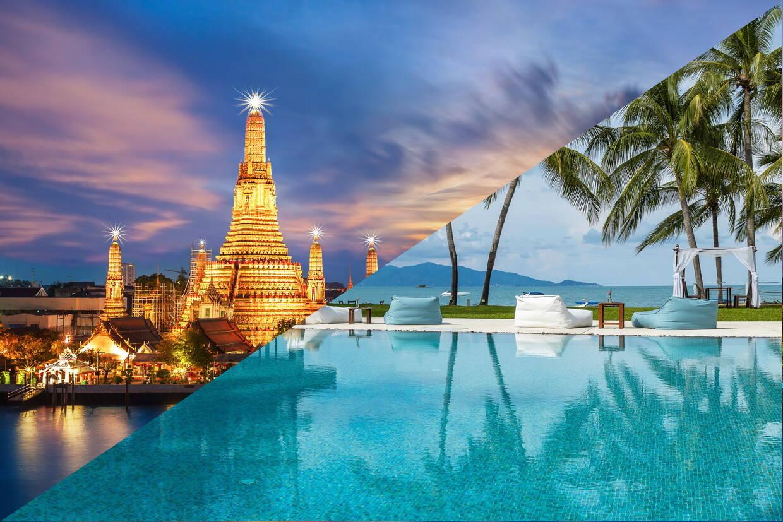(fictif) - Combiné hôtels - Court séjour Bangkok & Koh Samui au Samui Palm Beach 4* Bangkok Thailande