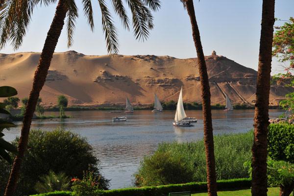 Le Nil vue d'Assouan