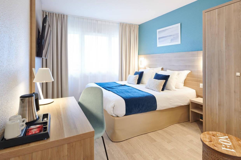 Chambre - Hôtel Les Terrasses 3* Anglet France Cote Atlantique