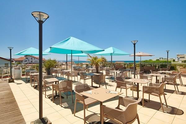 Terrasse - Hôtel Le Biarritz & Thalasso archivé 3* Biarritz France Cote Atlantique