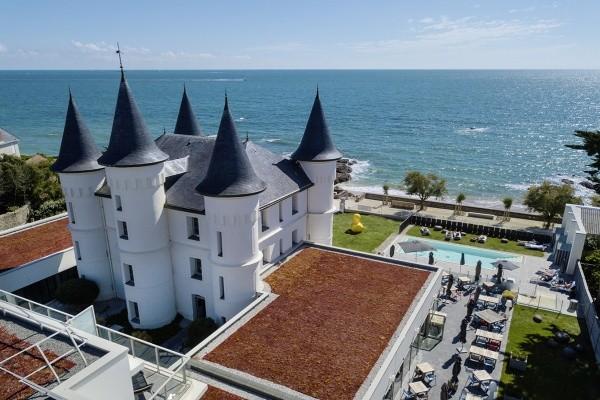 Facade - Hôtel Château des Tourelles, Relais Thalasso & Spa 4* Pornichet France Cote Atlantique