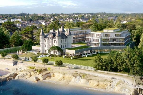 Vue panoramique - Hôtel Château des Tourelles, Relais Thalasso & Spa 4* Pornichet France Cote Atlantique