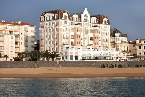 Facade - Hôtel Le Grand Hôtel Thalasso & Spa (avec cure marine) 5* Saint Jean De Luz France Cote Atlantique