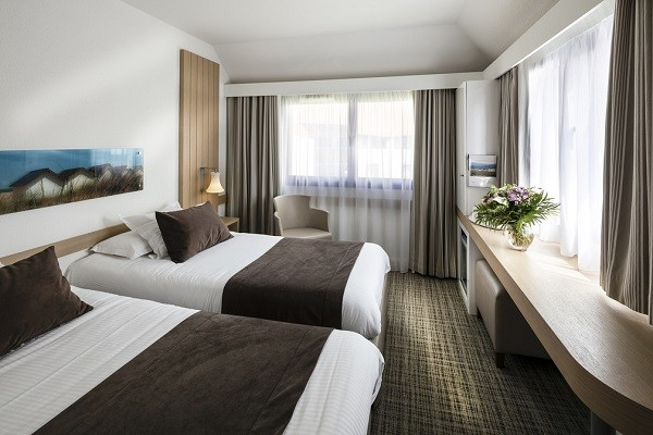 Chambre - Hôtel Thalazur Riva Bella 4* Ouistreham France Normandie