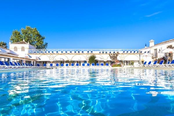 Piscine - Hôtel Globales Cortijo Blanco 3* Malaga Andalousie