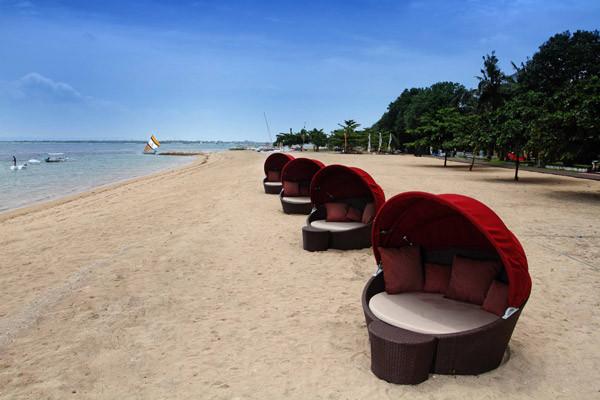 Plage - Hôtel Prama Sanur Beach 4* sup Denpasar Bali