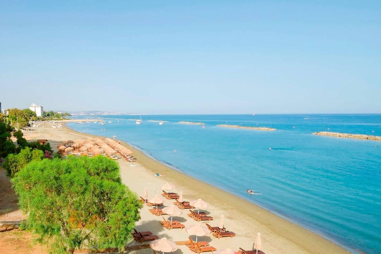 Plage - Hôtel Kapetanios Limassol 3* Paphos Chypre