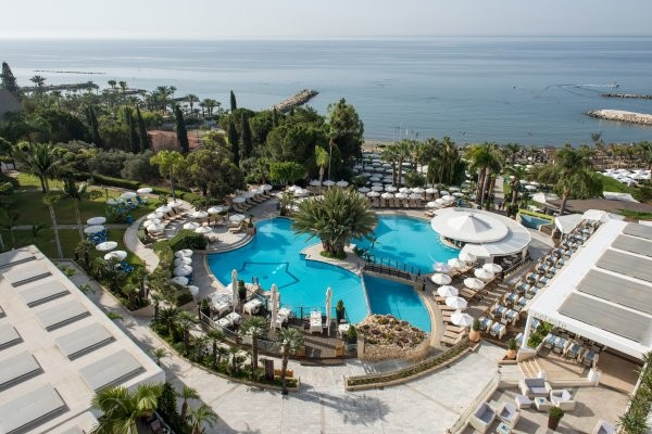 Vue panoramique - Hôtel Mediterranean Beach Hotel 4* Paphos Chypre