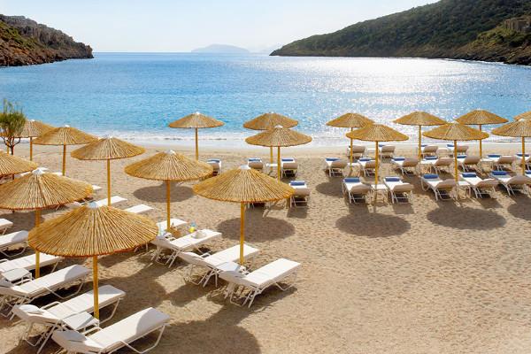 Plage - Hôtel Daios Cove Resort and Luxury Villas 5* Luxe Heraklion Crète