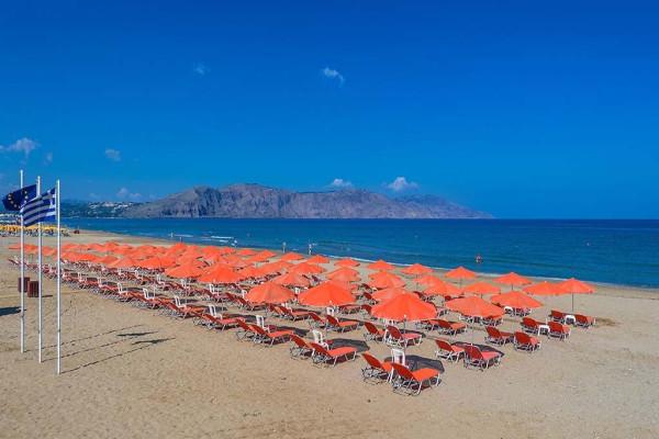Plage - Hôtel Eliros Mare 4* sup Georgioupolis Crète