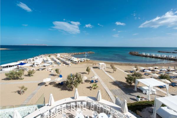 Plage - Hôtel Knossos Beach Bungalows & Suites 5* Heraklion Crète