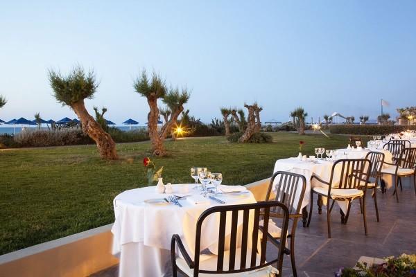 Terrasse - Hôtel Rithymna Beach 4* Heraklion Crète