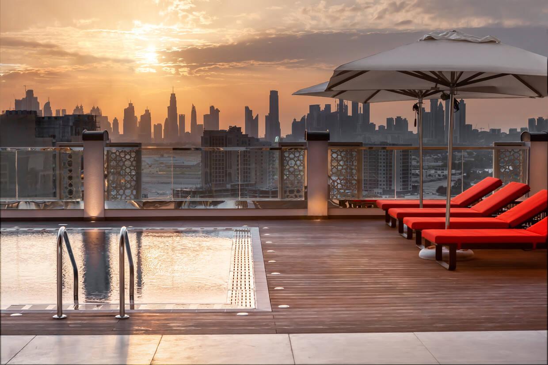 Piscine - Hilton Garden Inn Dubaï Al Jadaf Culture Village 4* Villes Inconnues Pays Inconnus