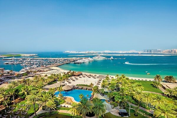 Vue panoramique - Hôtel Le Meridien Mina Seyahi Beach Resort 5* Dubai Dubai et les Emirats