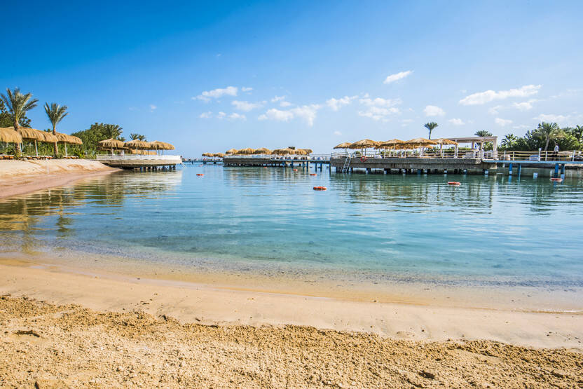 Plage - Hôtel Sunrise Aqua Joy Resort 4* Hurghada Egypte