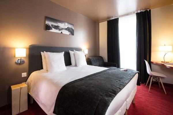 Chambre - Hôtel Soleil Vacances Parc Hotel 4* Briançon France Alpes