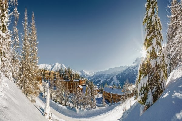 Vue panoramique - Hôtel Les Bergers 3* Pra Loup France Alpes